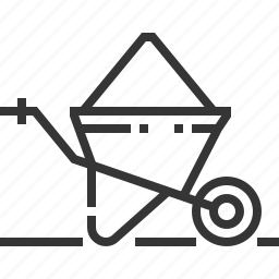 cart, construction, farming, gardening, tools and utensils, trolley, wheelbarrow icon