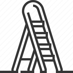 climb up, construction, home repair, ladder, tools and utensils, wall icon
