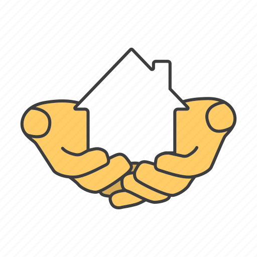 Hand, house, insurance, mortgage, property, purchase, realty icon - Download on Iconfinder