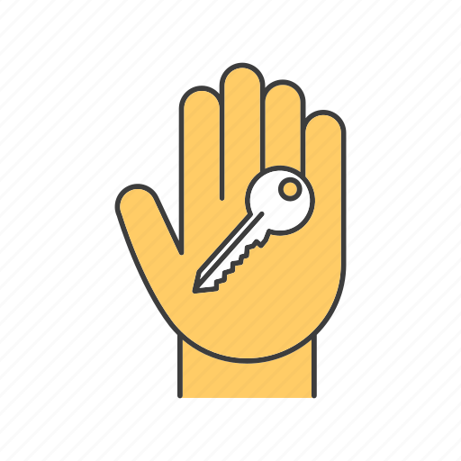 deal, hand, house, key, lock, owner, property icon