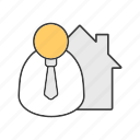 broker, businessman, manager, real estate, realtor, sale icon