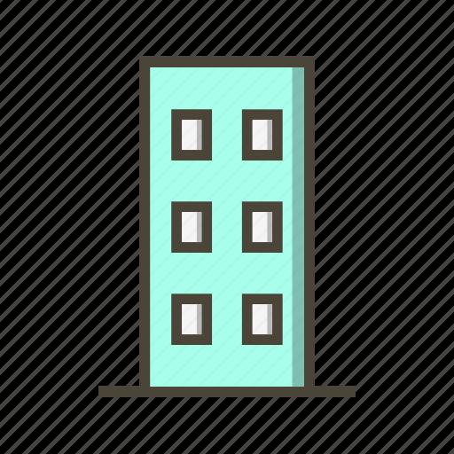 apartment, building, flats icon