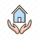 home insurance, house, protection icon