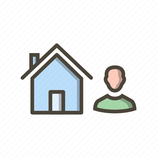 agent, house, insurance icon