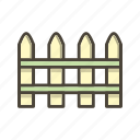 fence, palisade, picket fence icon