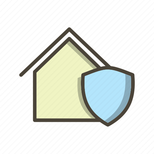 home, house, protected icon