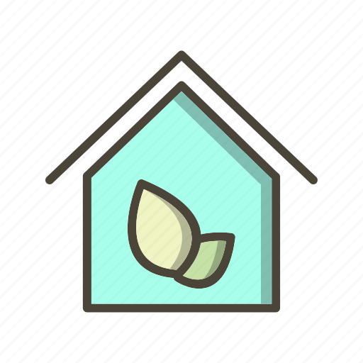 eco, green house, home icon