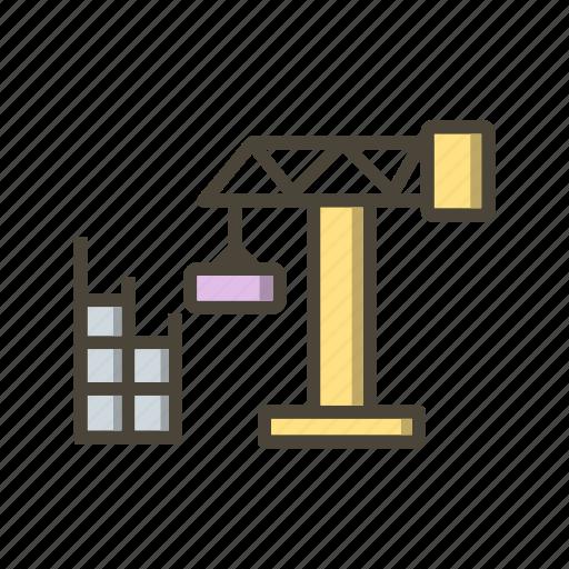 construction, crane, site icon