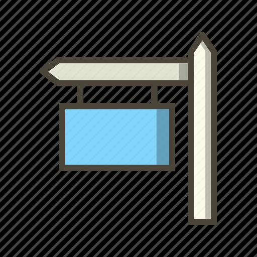 sign board, street board icon