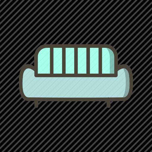 couch, furniture, sofa icon