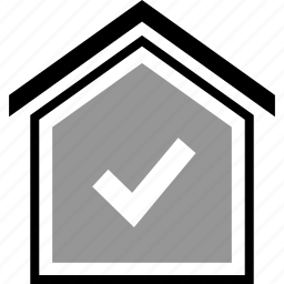 check, equity, home, ok icon