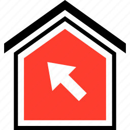 click, equity, home icon