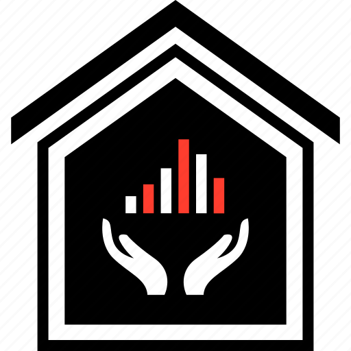 buying, equity, hands, home icon