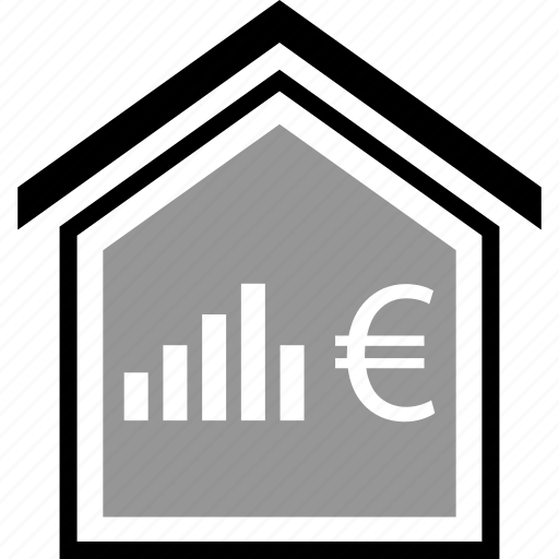 bar, equity, euro, home icon