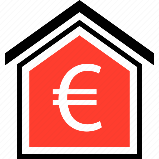 equity, euro, home icon