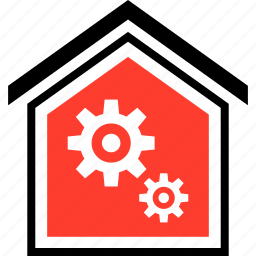 equity, gear, home, two icon