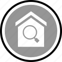 equity, home, house, search icon