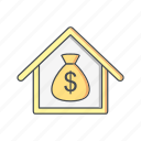 building, home, house, loan, mortgage, property, real estate icon