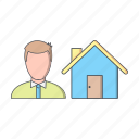 agent, home, house, insurance icon