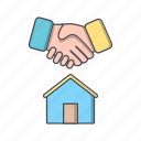 contract, deal, house icon