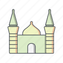 masjid, mosque, muslim icon