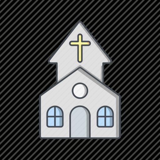 chapel, christian, church icon