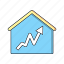 graph, home, house, statistics icon
