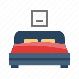 bed, bedroom, home, hotel, house, luxury, room icon