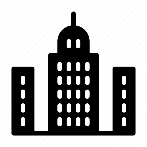 agency, broker, building, commercial, estate, real, service icon