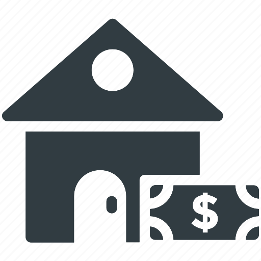 building, dollar, house financing, mortgage, real estate icon