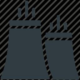 nuclear plant, plant, power plant, thermal plant, unit icon