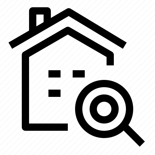 home, house, real estate, search icon