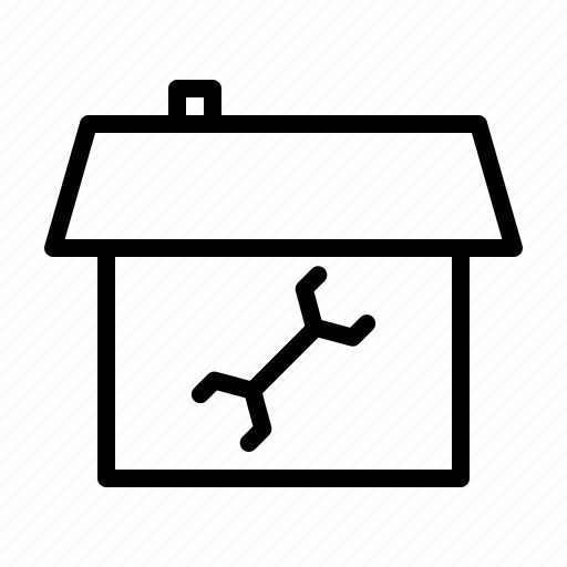 agency, building, estate, house, real, repair, small icon