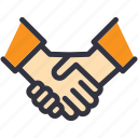 agreement, business, contract, cooperation, deal, handshake, partnership icon