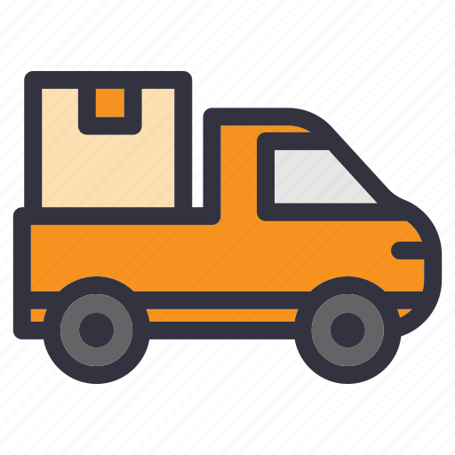 deliver, delivery, move out, package, service, shipping, truck icon