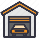 car, car park, garage, house, repair, service, vehicle icon
