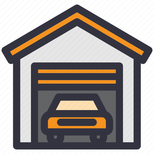 car, car park, garage, house, repair, service, vehicle icon