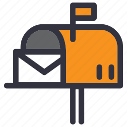 e-mail, house, inbox, letter, mail, mailbox, post icon