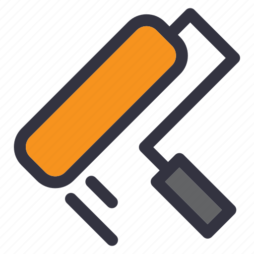 brush, home, house, paint, painter, renovation, repair icon