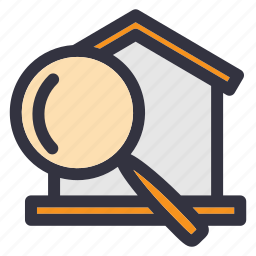 find, home, housing, property, rent, search, search house icon