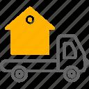 real, estate, house marketing, house, van