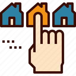 buy, choose, home, house, rent icon