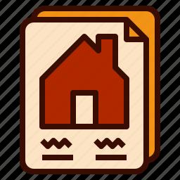 construction, contract, design, home, house icon