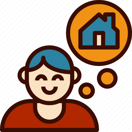 avatar, dream, estate, home, house, real, think icon