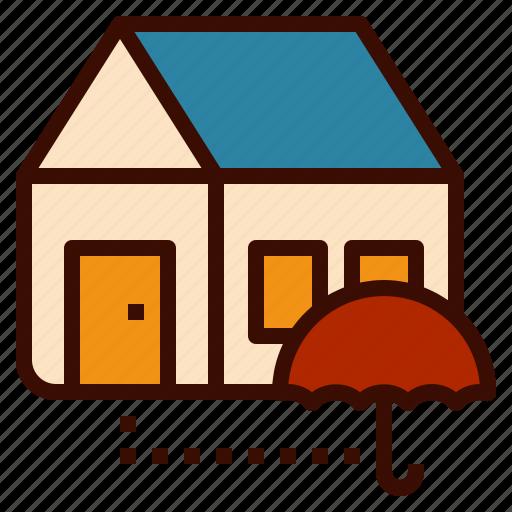 estate, home, house, insurance, real, umbrella icon