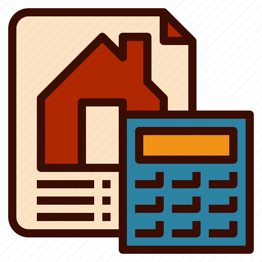accouting, bank, credit, form, home, loan icon