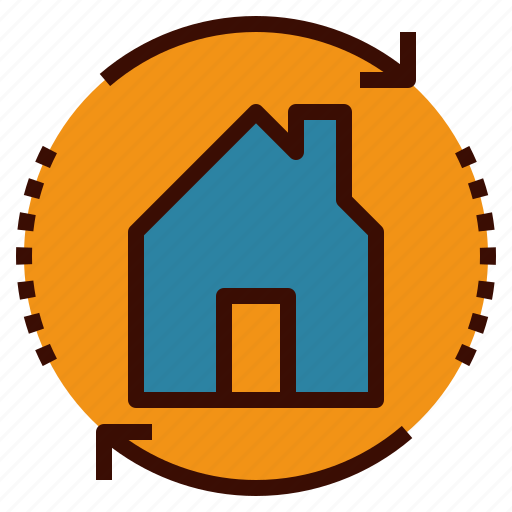 estate, exchange, home, real, renovate, swap icon