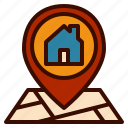 direction, house, location, map, pin icon