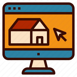 estate, find, home, pc, real, web, website icon