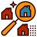 find, house, internet, property, search icon